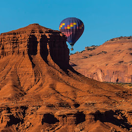 Desert Ballooning by Andy Chow - Landscapes Travel ( monument valley, hot air balloon, desert )