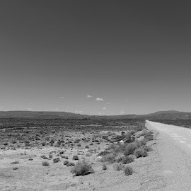 Deserted by Paul Droßard - Landscapes Deserts ( monochrome, desert, south africa, landscape, d3s, black-white, 21mm, nature, wide angle, zeiss, distagon t*2.8/21 zf2, nikon, carl zeiss )