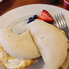 Breakfast sandwich was amazing!! The bread is awesome!