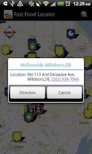 Fast Food Restaurants Locator - screenshot
