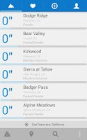 Screenshot of AllSnow Ski Reports & Tracker