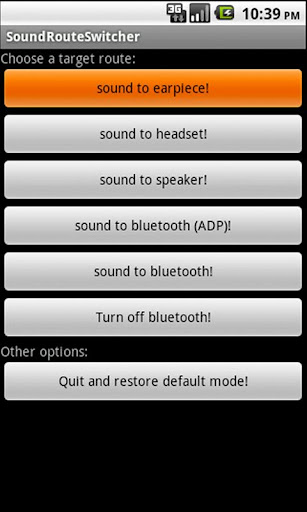 Sound Route Switcher Bluetooth