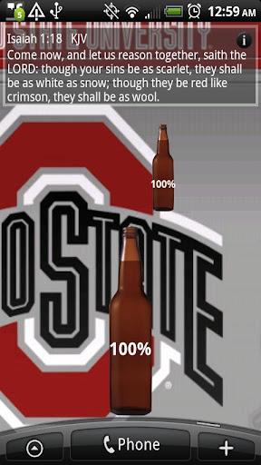 Battery Meter Beer Bottle