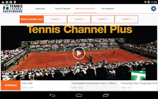 Screenshot of Tennis Channel Everywhere