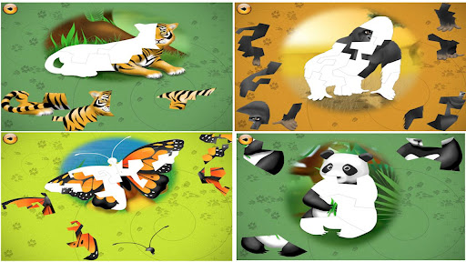 Dieren Leren met Puzzels