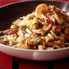 Spanish Fideos with Shrimp