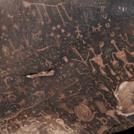 newspaper rock, close up 2 by Debbie Theobald - Nature Up Close Rock & Stone ( natural light, nature, petroglyphs, arizona, rock,  )