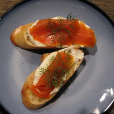 La Boqueria Smoked Salmon Toasts