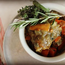 Herby Braised Chicken Thighs With Carrots And Potatoes