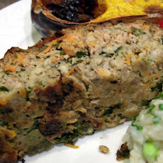 Low-Fat Turkey-in-the-Garden Meatloaf