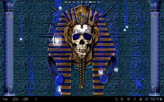 Screenshot of Undead Pharaoh Skull Free LWP
