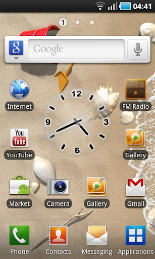 glass-clock-black for android screenshot