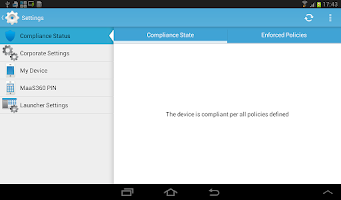 Screenshot of MaaS360 MDM for Samsung