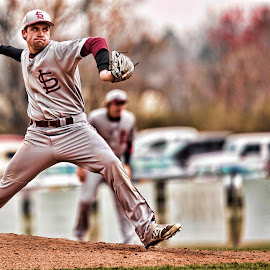 by Robby Saint - Sports & Fitness Baseball ( hdr, baseball, sports, pitcher, people )