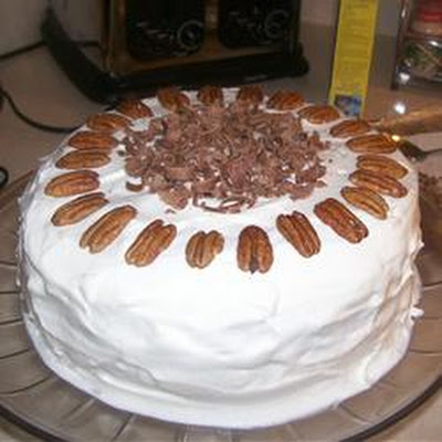 Chocolate Praline Layer Cake