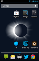 Screenshot of Solar Eclipse Live Wallpaper