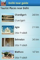 Screenshot of Delhi tour guide