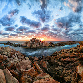 Canal Rocks sunset by Craig Eccles - Landscapes Sunsets & Sunrises ( clouds, canal rocks, ocean., sunset, australia, sunrise, rocks, sun )