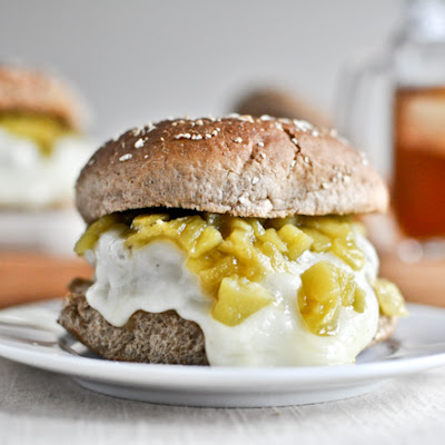 Green Chili Chicken Burgers