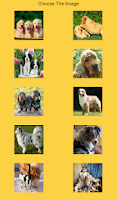 Screenshot of Dogs puzzle game