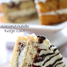 Coconut Nutella Fudge Cake