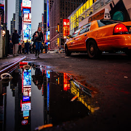 Times Square by Adam Inglis - City,  Street & Park  Street Scenes