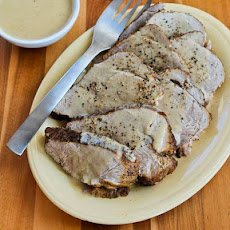 Bavarian Pork Sirloin Tip Roast with Sour Cream Gravy