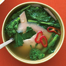 Broccoli Rabe and Ham in Ginger Broth