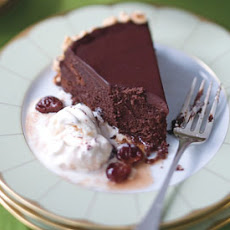 Flourless Chocolate Cake with Toasted Hazelnuts and Brandied Cherries