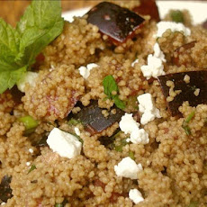Whole Wheat Couscous With Plums, Goat Cheese and Fresh Mint