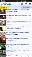 Screenshot of o2 Newsy