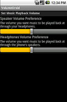 Screenshot of VolumeDroid