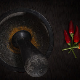 Hot by Davide PhotoVet - Food & Drink Ingredients ( mortaio, red, still life, food, pepper )