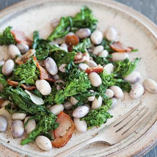 Cranberry Bean, Broccoli Rabe and Bacon Salad