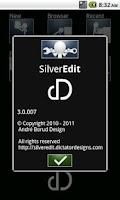 Screenshot of SilverEdit Lite