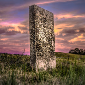 by Maurice FitzGerald - City,  Street & Park  Cemeteries ( sunset, beechgrove, soraxtm, tennessee, headstone )