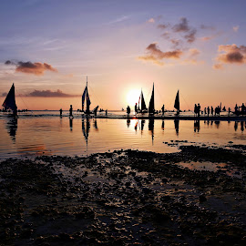 Boracay Philippines Sunset by Jonathan Tanguilig - Landscapes Travel ( beaches, sunset, travel, landscapes, , renewal, green, trees, forests, nature, natural, scenic, relaxing, meditation, the mood factory, mood, emotions, jade, revive, inspirational, earthly )