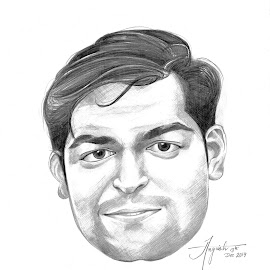 Dipak shah by Angvish Shaw - Drawing All Drawing ( shah, dipak shah, angvish, sketching, dipak, picturethisout, friend )