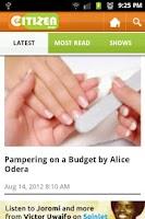 Screenshot of Citizen News