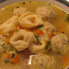 Chicken Meatball and Tortellini Soup - Tyler Florence