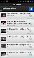 Screenshot of My Best MMA(UFC) Videos
