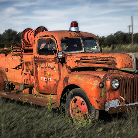 Firetruck by Paulo da Silva - Transportation Automobiles ( car, firetruck, antique )