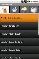 Screenshot of London Guide