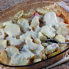 Ham and Swiss Scalloped Potatoes