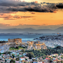 A warm afternoon in Athens by Stamatis Gr - City,  Street & Park  Historic Districts ( parthenon, ancient, acropolis, greece, athens )
