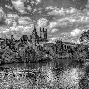 River Leam by Ian Flear - Black & White Landscapes