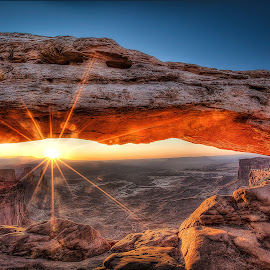Mesa Arch Sunrise by Robert Arrington - Landscapes Sunsets & Sunrises ( canyonlands, utah, sunrise, mesa arch )