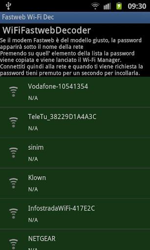 Fastweb Wi-Fi Decripter