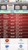 Screenshot of Sales Tracker