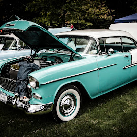 Classic Turquoise by John Witt - Transportation Automobiles ( ride, whitewall, car show, allegheny, classic )